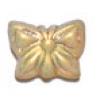 Glass Bead Butterfly 15x12mm Light Topaz Aurora Borealis - Strung Top Hole